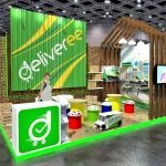 Trifas Deliveree booth design